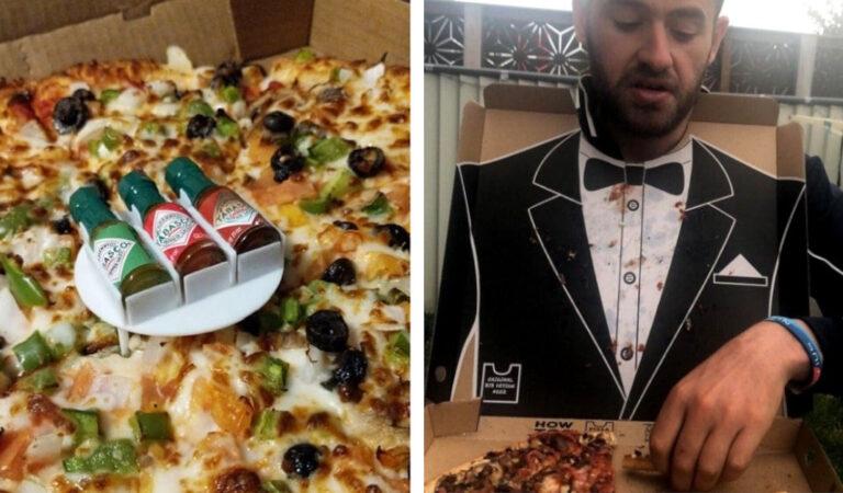 Cosa riesce a fare il genio umano: 17 amanti della pizza che hanno avuto delle idee ingegnose