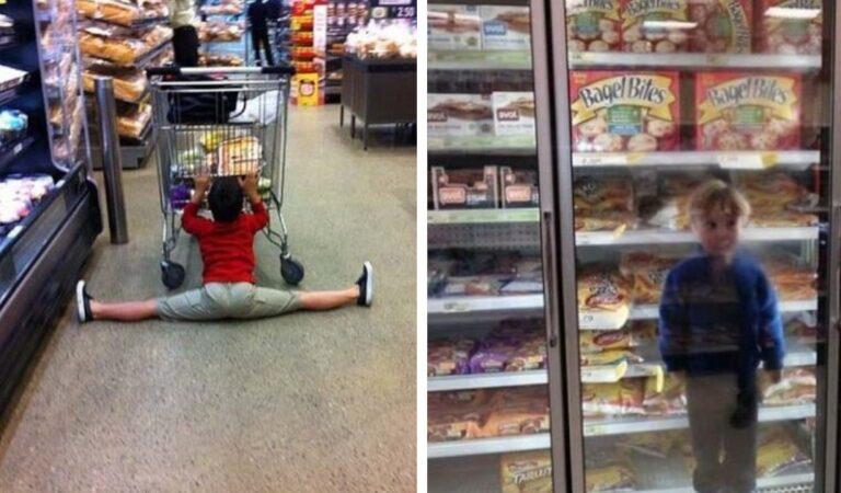 18 foto esilaranti che mostrano come lo shopping con i bambini non è affatto noioso