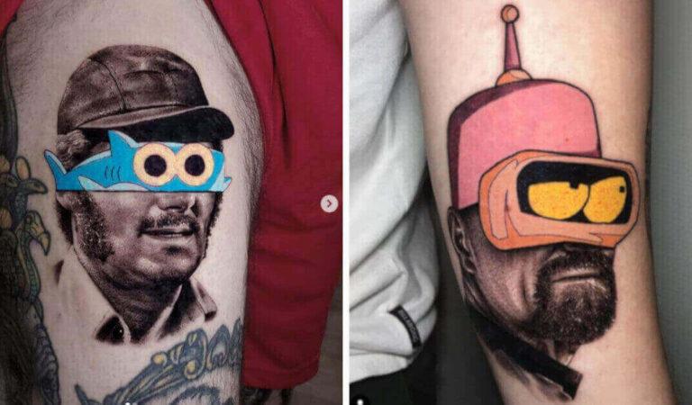 14 tatuaggi dallo stile unico e inconfondibile, originali mashup fra arte e cultura pop