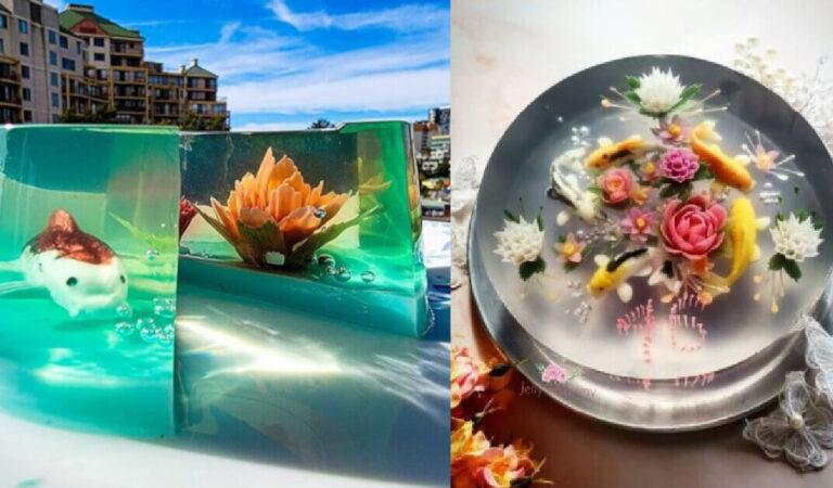 Le torte 3D di questa talentuosa artista  sembrano avere dei pesci che nuotano dentro