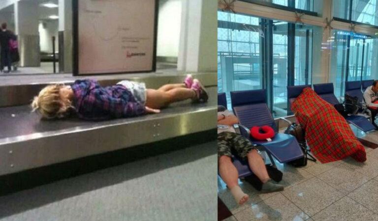 17 Foto divertenti scattate negli aeroporti da persone che viaggiano in aereo
