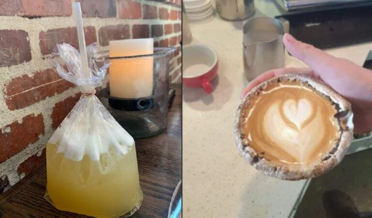 20 bevande servite in strani contenitori: sarebbe stato meglio un normale bicchiere