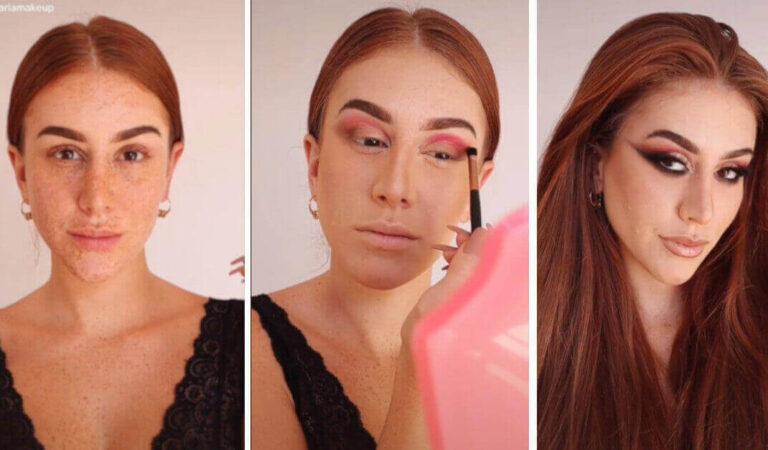 L'incredibile trasformazione di una 'tiktoker' del make up