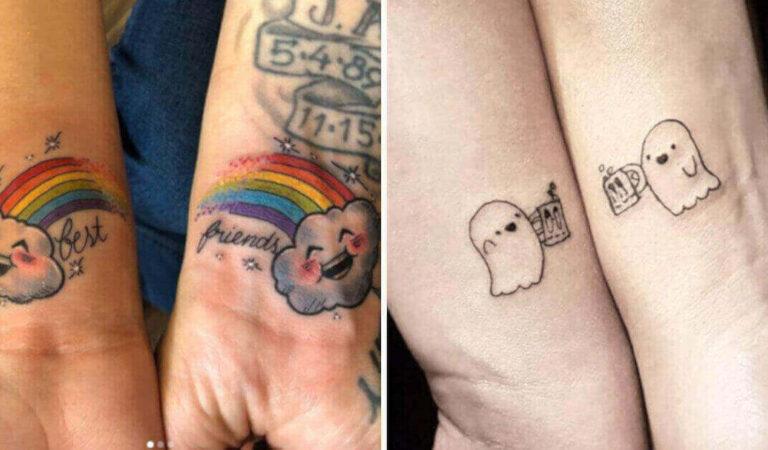14 migliori amici che hanno sancito la loro amicizia con un tatuaggio simbolico