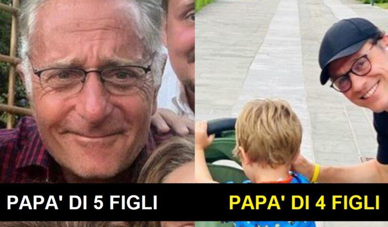 11 Papà Vip italiani che si sono dati da fare non solo per la loro carriera: hanno almeno quattro figli