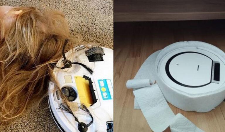 18 persone che volevano dedicarsi alla pulizia casalinga ma hanno avuto qualche problema